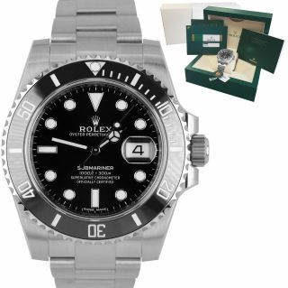 Oct 2019 Rolex Submariner Date 116610ln Stainless Black Ceramic Watch