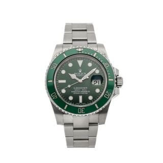 "Rolex Submariner "" Hulk "" Steel Auto 40mm Green Dial Oyster Bracelet Mens 116610lv"