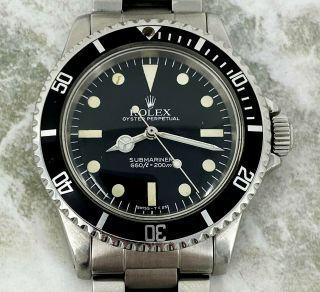 Vintage Rolex Submariner Dive Wristwatch Ref.  5513 Maxi Mk5 C.  1981 40mm Nr