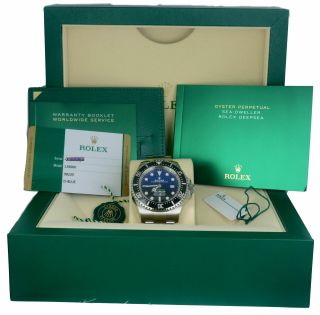 Nov 2019 Rolex Sea - Dweller Deepsea James Cameron Blue Black 126660 44mm Dive