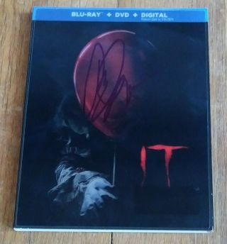 """Bill Skarsgard """" Autographed Hand Signed """" It Blu Ray Slipcover Jacket (pennywise)"""