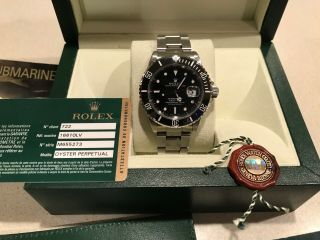 Rolex Submariner 16610 Date Black Dial