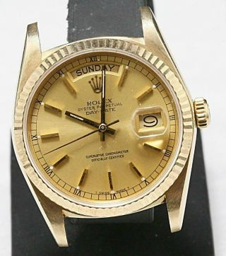 Swiss Made Rolex Presidental Day - Date Ref 18038 Single Quick Set Auto