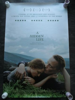 A Hidden Life Uk Movie Poster Double - Sided Uk One Sheet Rare