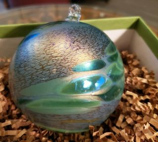 Borowski Glass Studio Ornament Hand Crafted In Poland.  Germany.  Lovely Gift Box