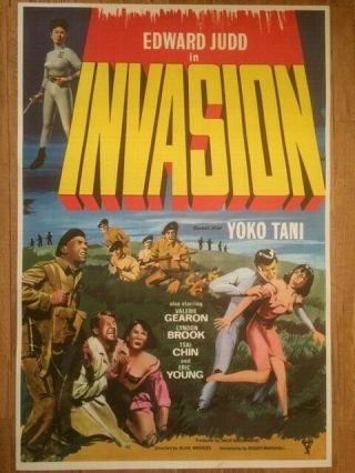 Invasion 1965 British Film Poster Science Fiction Sc - Fi B Movie