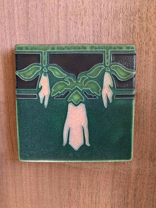 """Motawi Tileworks """"sweet Pea"""" Art Deco Arts And Crafts 6"""" X 6"""""""