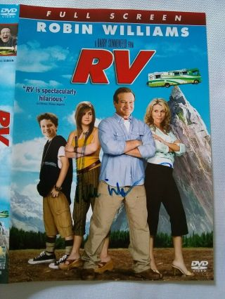 Robin Williams Signed Dvd The Movie Rv 100 Guaranteed Authentic Signed 11/13/11