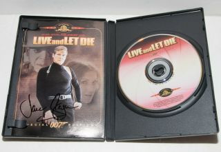 Signed Jane Seymour Live And Let Die James Bond 007 Dvd Autograph