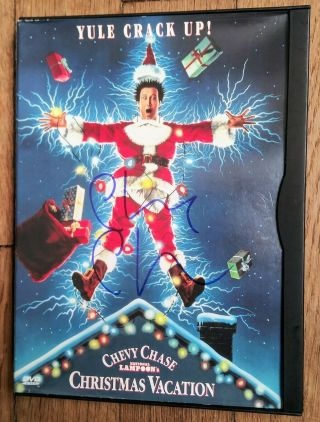 "Chevy Chase "" Autographed Hand Signed "" Christmas Vacation Dvd - Clark Griswold"