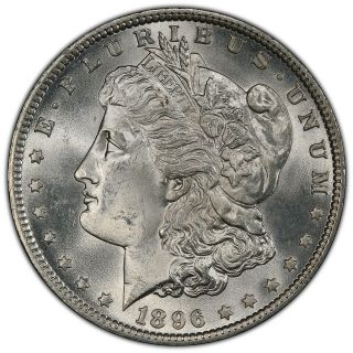 1896 P Morgan Dollar Pcgs Ms 65 - Has Not Been To Cac