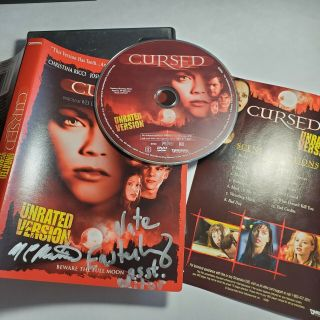 Cursed Dvd Signed By Nathan Easterling And One Other