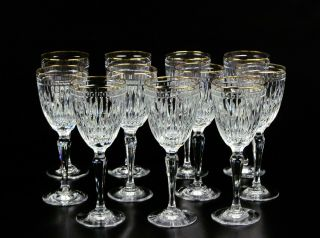 Wine Glass Hanover Gold By Waterford Crystal,  Blown Glass Crafted In Slovenia