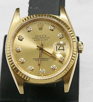 Custom Made After Market Ref 16018 Quick Set Automatic Datejust.  Cal 3035