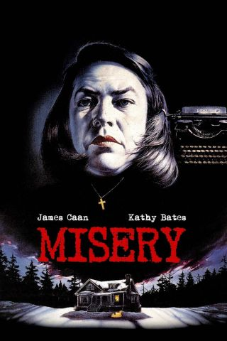 """ Misery "".  Kathy Bates.  James Cann.  Classic Movie Poster Various Sizes"