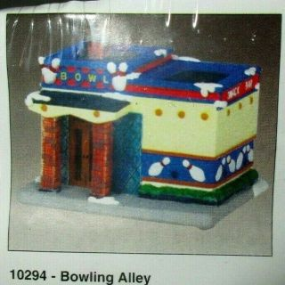 Creative Crafts Village House Bowling Alley 10294 Ready To Paint