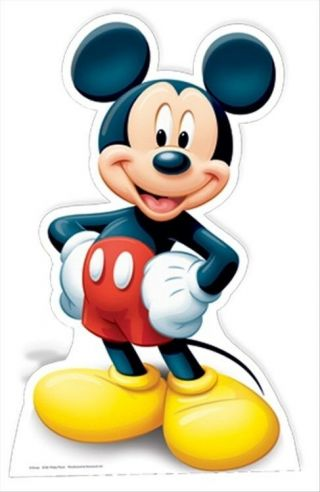 Mickey Mouse Official Disney Cardboard Fun Cutout - Great For Your Party