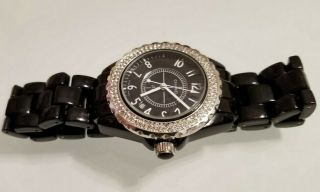 Chanel J12 Paris Etanche 200m Ceramic With Diamond Bezel Z.  G 58096