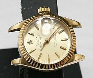 Swiss Made Rolex Presidental Datejust Ladies 26mm Ref 6927 Acrylic Crystal Watch