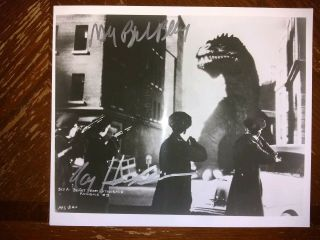 Beast From 20,  000 Fathoms 8x10 Signed/autograph Ray Harryhausen&bradbury,  Dvd