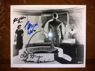 The Day The Earth Stood Still 8x10 Photo Signed/autographed Neal/gray/wise,  Dvd
