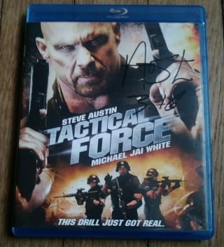 "Wwe Stone Cold Steve Austin "" Autographed Signed "" Tactical Force Blu Ray - Wwf"