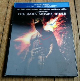"Tom Hardy "" Autographed Signed "" Batman The Dark Knight Rises Blu Ray Slipcover"