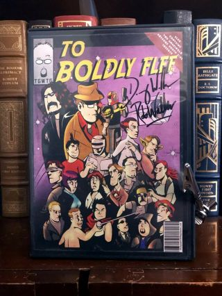 To Boldly Flee Dvd Signed By Rob & Doug Walker Nostalgia Critic Channel Awesome