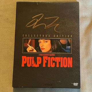 "Quentin Tarantino Autographs "" Pulp Fiction "" Very Rare Collector Edition Dvd Set"