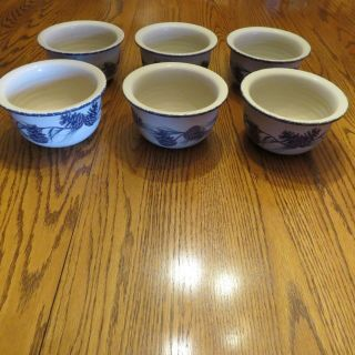 Set Of 6 Northwoods Home & Garden Party Pinecone Bowls Euc Made In Usa 2004
