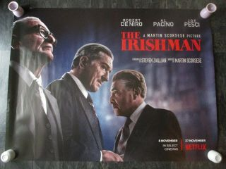 The Irishman Uk Movie Poster Quad Double - Sided 2019 Netflix Poster