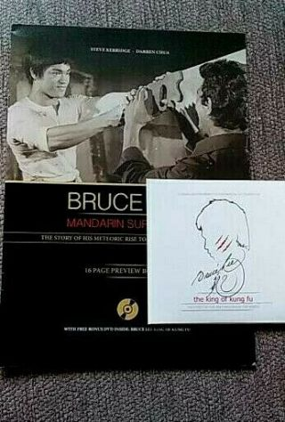 Bruce Lee Mandarin Superstar Booklet With Bonus Dvd