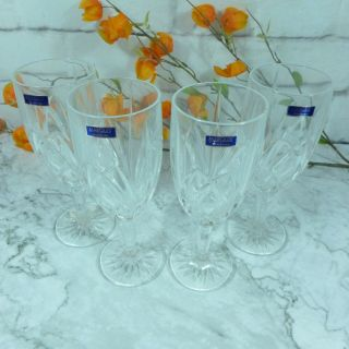 1 Vintage Waterford Marquis Set Of 4 Iced Beverage Glasses (nib)