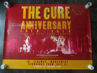 The Cure 1978 - 2018 Uk Movie Poster Quad Double - Sided 2019 Cinema Poster