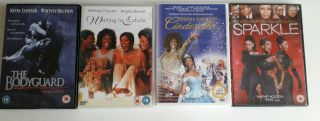 4 Whitney Houston Movie Dvds