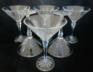 6 Fifth Avenue Crystal Portico Martini Glasses Barware
