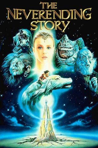 """ The Neverending Story "".  Noah Hathaway.  Classic 1984 Movie Poster Various Sizes"