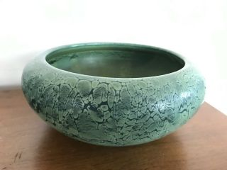 Weller Frosted Matte Green Arts And Crafts Pottery