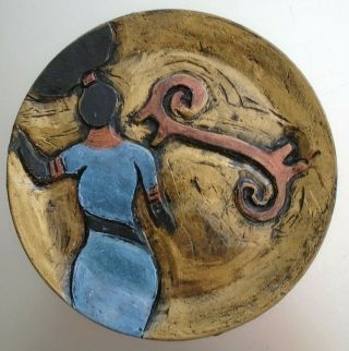 Studio Hand Crafted Pottery Decorative Plate By Angelique Scott