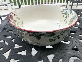Better Homes And Gardens Heritage Winter Forest Large Serving Bowl 12 ""