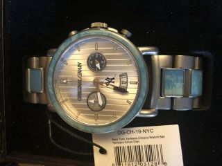 Rare York Yankees Watch Set/limited Edition/made From 1923 Stadium Seats