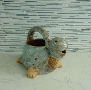 Cute Turtle Art Pottery Watering Can Great Holiday Gift