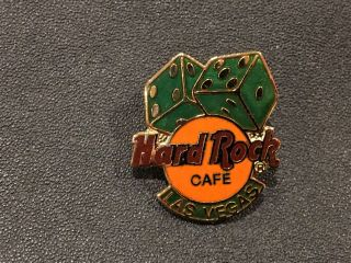 Hard Rock Cafe Logo Dice Pin Las Vegas Pin Hrc Pinusa Old Craft Creations