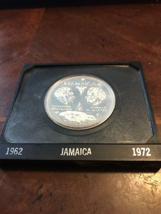 Jamaica 1962 - 1972 10 Dollars Elizabeth Ii Independence Silver Coin