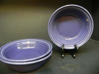 Dansk Craft Colors Eggplant Cereal Bowls (set Of 3).