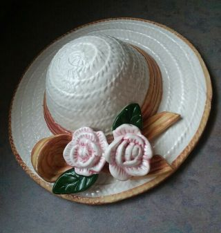 Collezione Italiano For Seymour Mann Hand Crafted Ceramic Hanging Hat Flowers
