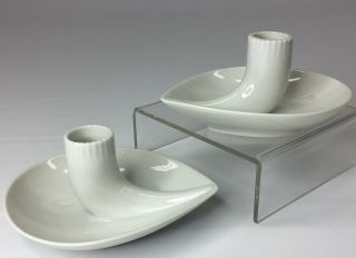 Vintage Small Rosenthal Selb Plossberg Bavaria Germany Porcelain Candle Holders