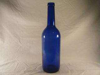 750 Ml Cobalt Blue Glass Wine Bottle Empty Home Brew Craft Making