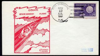 1961 Atlas Missile 32e Goliath Launch Port Canaveral Fl Nov 10 - Gold Craft Pe160