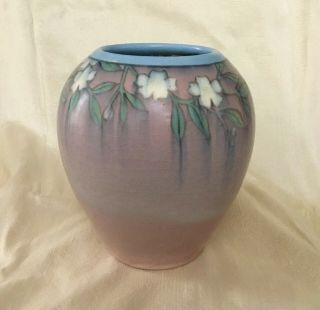 Rookwood Pottery 1917 Vellum Arts & Crafts Floral Vase By Patti Conant